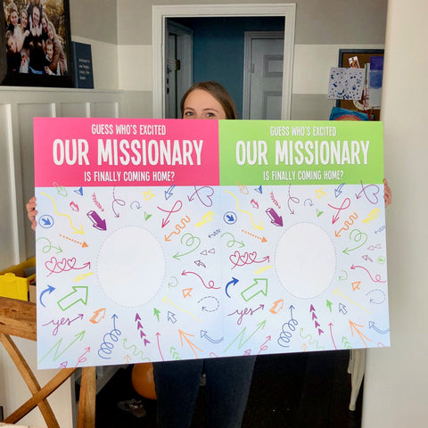 missionary welcome home poster