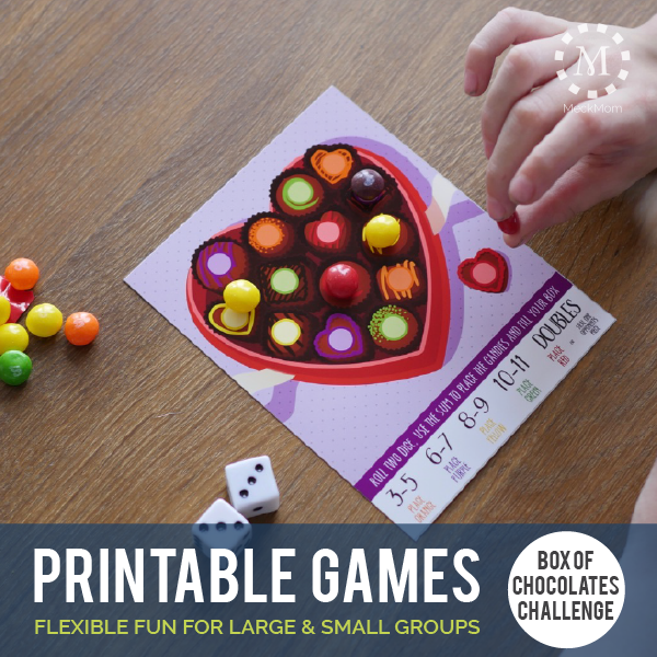 Printable Valentine Party Game: Box of Chocolates Challenge-Games-MeckMom