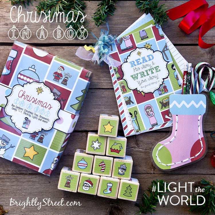 FREE Christmas in a Box Kit for #LIGHTtheWORLD-Decorations-MeckMom