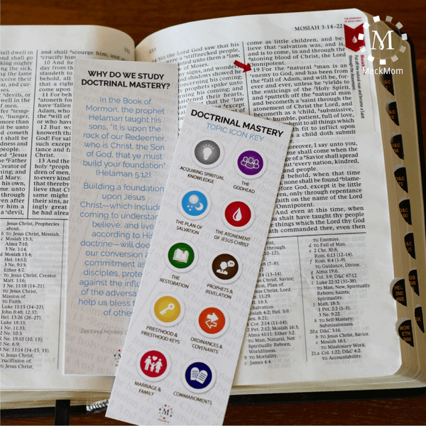 Doctrinal Mastery Scripture Bookmarks-Handouts-MeckMom