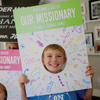 Missionary Welcome Home Poster: 'Guess Who's Excited' Funny Face Design-Posters-MeckMom