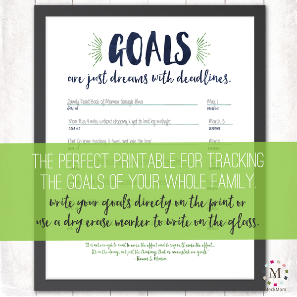 FREE Family Goals Tracking Sheet-Prints-MeckMom