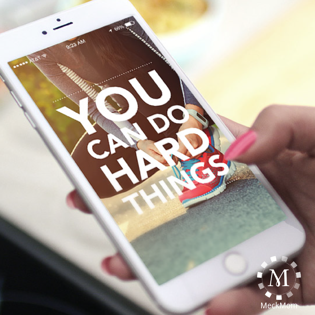 FREE iPhone Wallpaper: You Can Do Hard Things: Running-iPhone Wallpaper-MeckMom