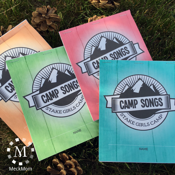 Girls Camp Song Book Editable Printable-LDS Printable-MeckMom