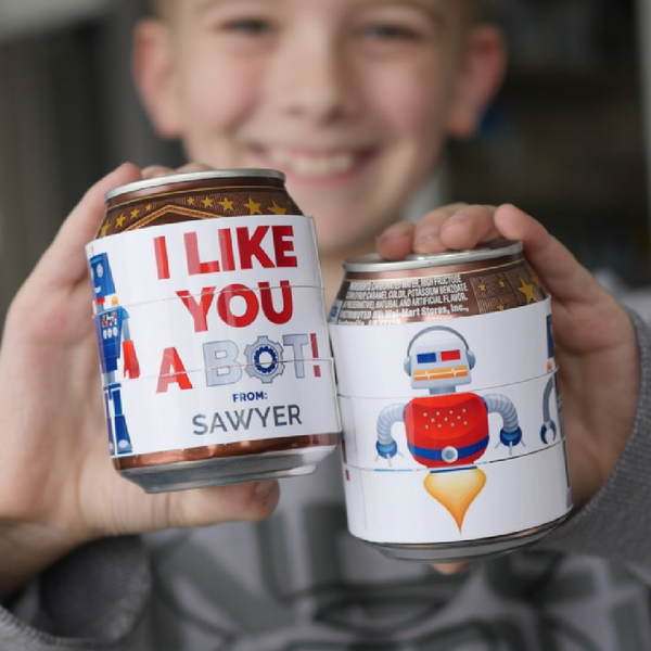 Twistable Robot Soda Can Printable Valentines-Valentines-MeckMom