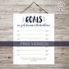 FREE Family Goal Tracking Sheet-Organization Tools-MeckMom