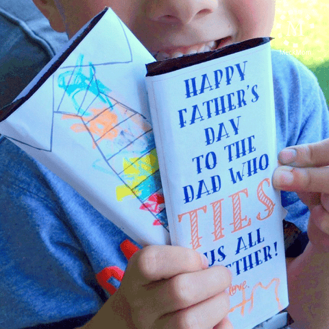 Colored-by-Kids Candy Bar Father's Day Gift-Gifts-MeckMom