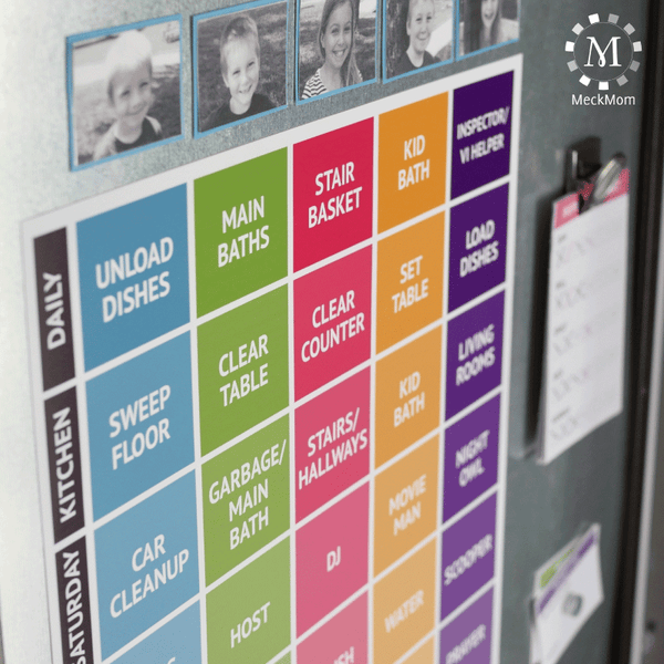 Family Job & Chore Chart Kit-Organization Tools-MeckMom