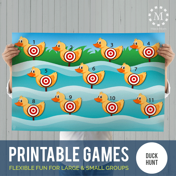 Printable Games: Duck Hunt Target Shoot-Games-MeckMom