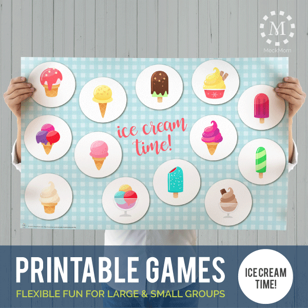 Printable Games: Ice Cream Time-Games-MeckMom