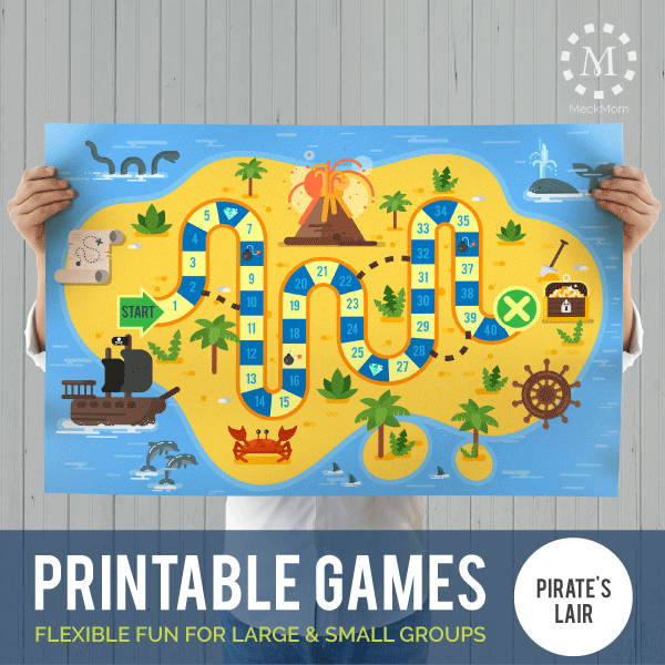 Printable Games: Pirate Lair Chutes and Ladders-Games-MeckMom