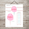Baptism Talk Object Lesson: Pink Cotton Candy Set-Handouts-MeckMom