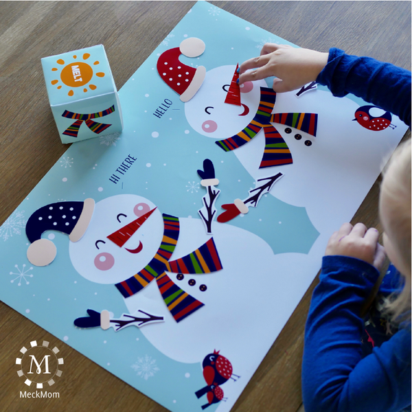 Christmas Winter Party Game: Build a Snowman-Games-MeckMom
