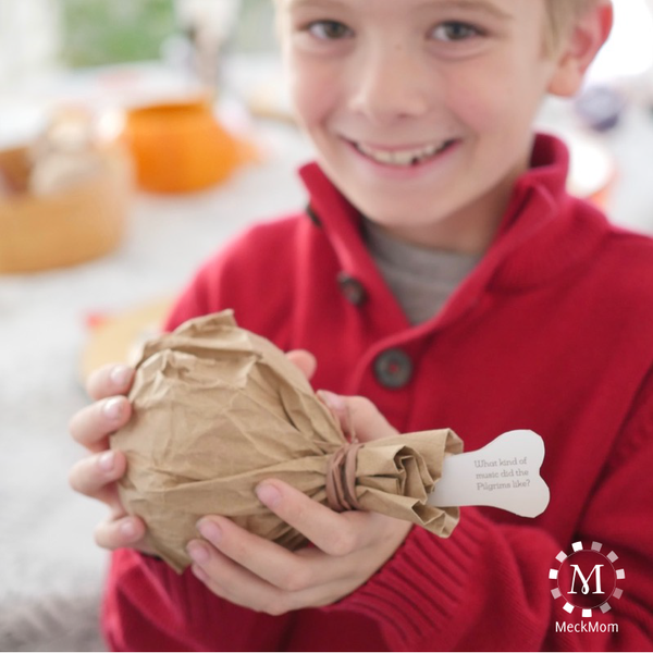 Thanksgiving Kids Table Favor: Turkey Leg Funny Bones-Decorations-MeckMom