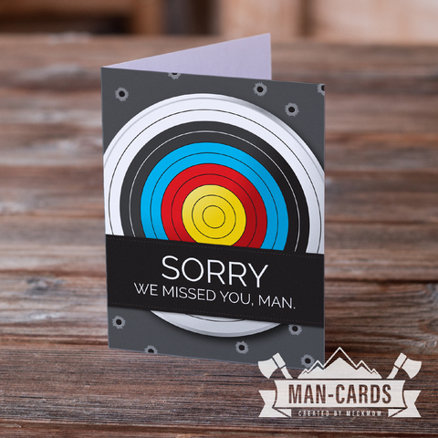 Man Cards for YM Leaders: Sorry We Missed You-Cards-MeckMom