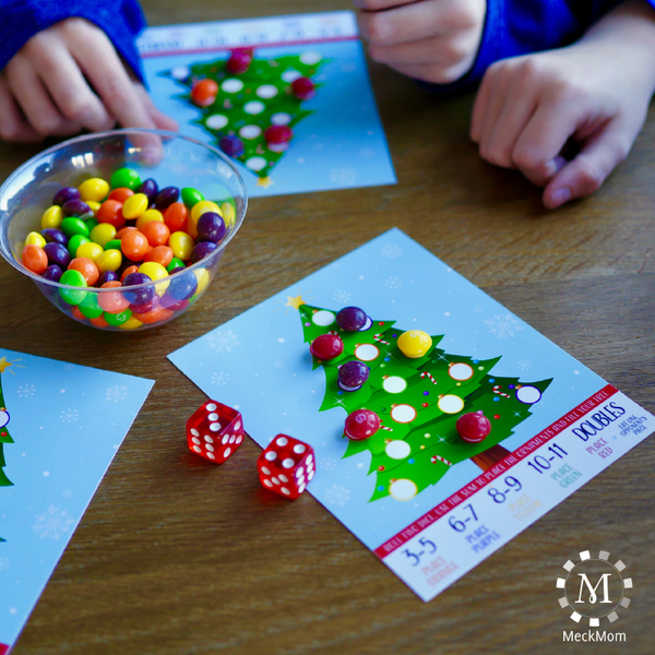 Printable Christmas Party Game: Roll A Tree-Games-MeckMom
