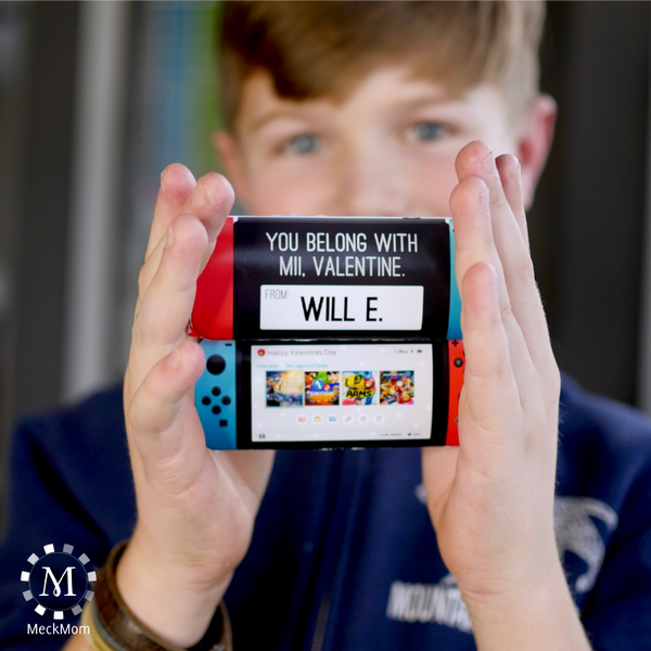 Switch Gaming Console Printable Valentines-Valentines-MeckMom