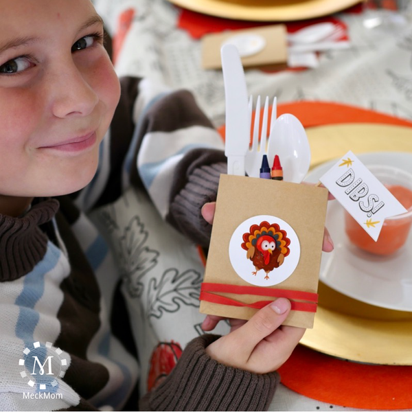 Thanksgiving Kids Table Decorations and Games: Full Kit-Decorations-MeckMom