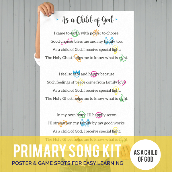 Primary Song Kit: As a Child of God-Games-MeckMom