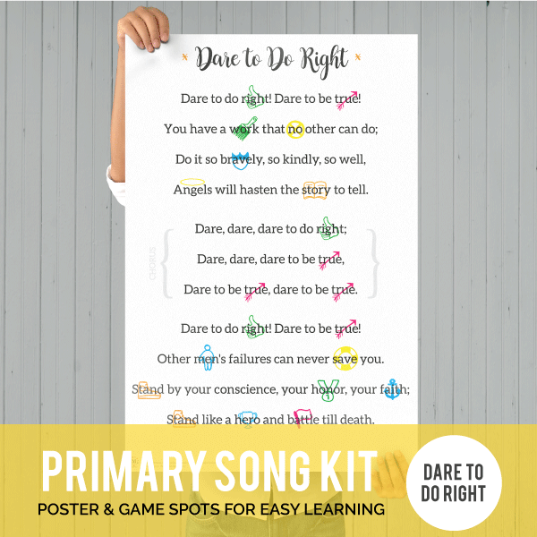 Primary Song Kit: Dare to Do Right (BONUS 2017)-Games-MeckMom