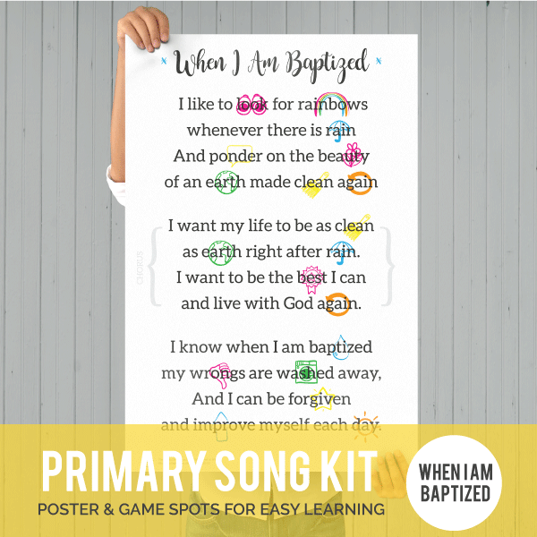 Primary Song Kit: When I Am Baptized (MAY 2017)-Games-MeckMom