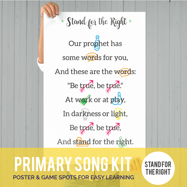 Primary Song Kit: Stand for the Right (MARCH 2017)-Games-MeckMom