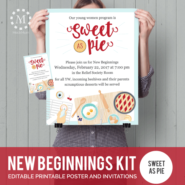 YW New Beginnings Poster & Invitation: Sweet as Pie-Posters-MeckMom