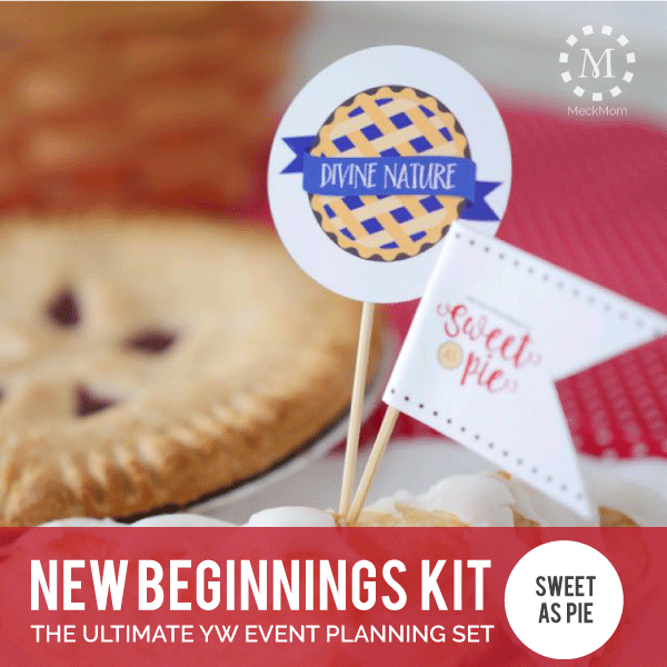 YW New Beginnings Kit: Sweet as Pie-Decorations-MeckMom