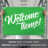 Missionary Welcome Home Poster: Script Design Solid Colors-Posters-MeckMom