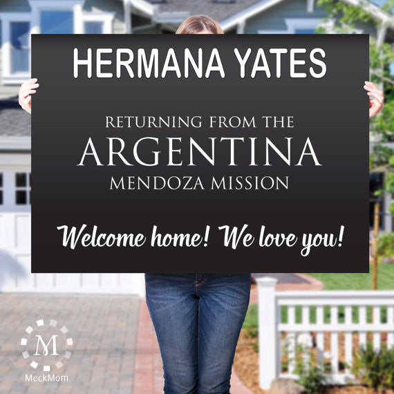 Missionary Welcome Home Poster: Name Tag Design-Posters-MeckMom