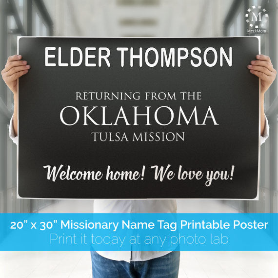 image relating to Printable Missionary Name Tags known as Missionary Welcome Property Poster: Popularity Tag Structure