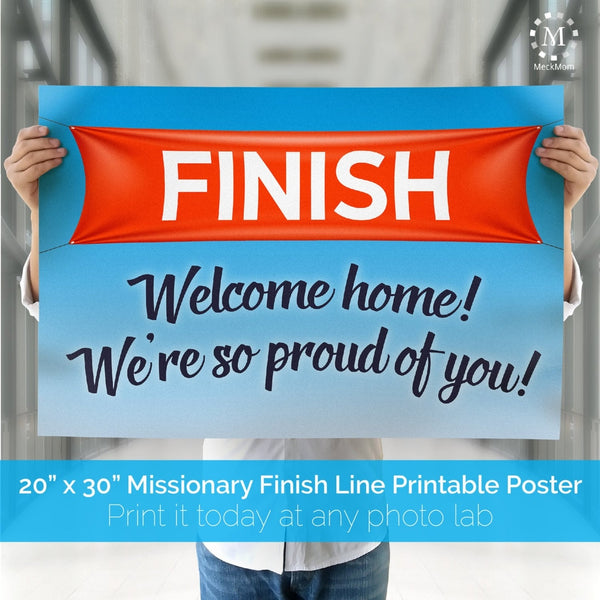Finish Line Missionary Welcome Home Printable Poster-Posters-MeckMom