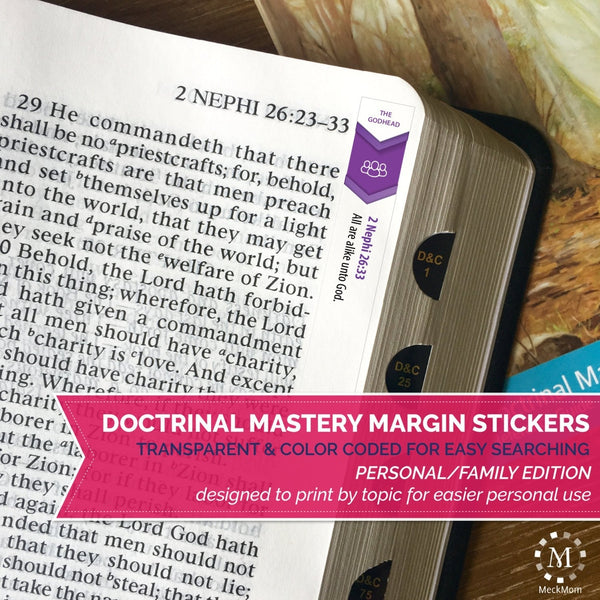 Doctrinal Mastery Margin Stickers - Personal Family Edition - PRINTABLE-Stickers-MeckMom