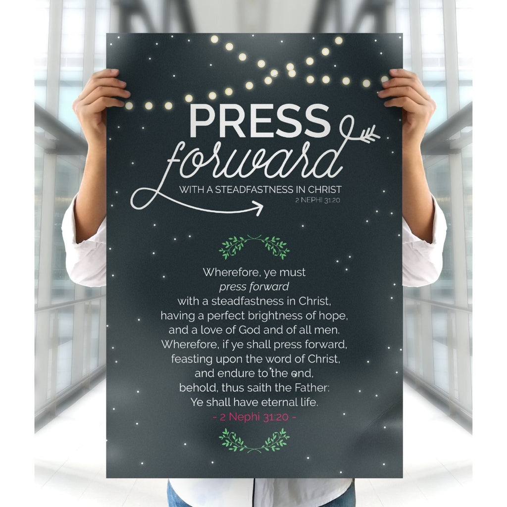 Young Women Poster - 2016 Theme Press Forward - Tent Glamping Style-Posters-MeckMom