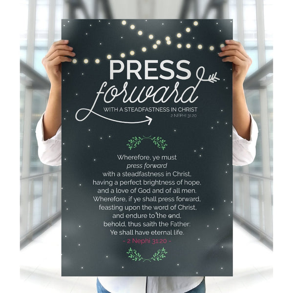 FREE Press Forward Poster - Tent Glamping Style-Posters-MeckMom