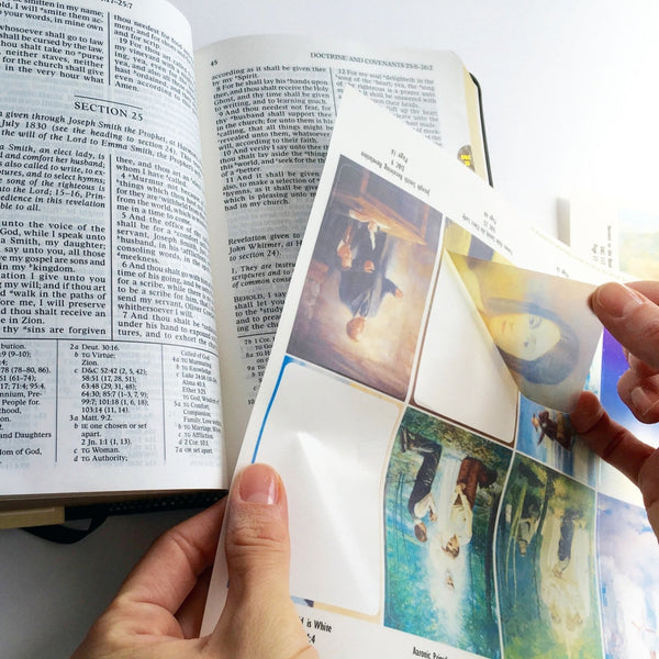 Transparent Scripture Sticker Paper for LDS Scripture Stickers (20 pk)-Paper-MeckMom