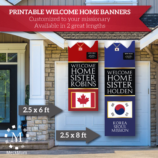 Sister Missionary Welcome Home Banner: Vertical Sweater Design-Banner-MeckMom