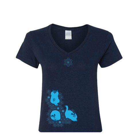Shibori Kitty Women's Tee