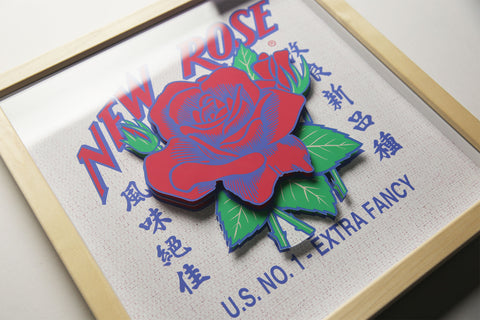 New Rose 3D Laser Cut - 13""