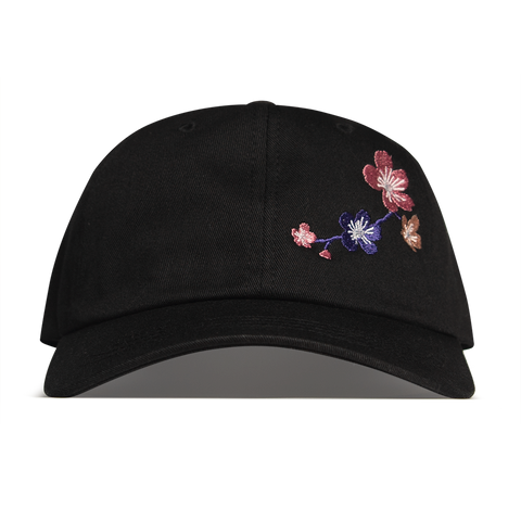 Cherry Blossom Hat - Black