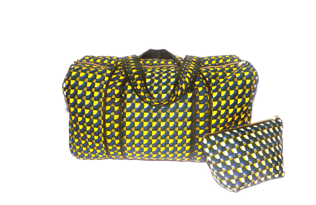Duffel and Cosmetic Bag Set