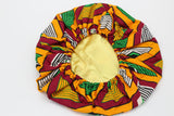 African Print Travel Bonnet