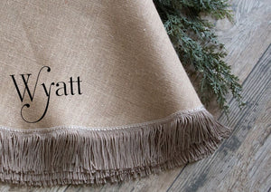 Christmas Tree Skirt | Large Burlap Tree Skirt | Farmhouse | Fringe | Fully Lined | Optional Name Or Initial |Approx. 65 Inches - Christmas