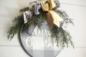 Christmas Wreath Buffalo Plaid - Wreaths - The Burlap Cottage®