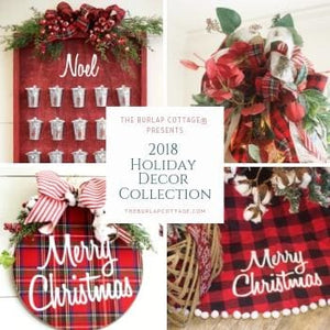 Christmas Wreath Tartan Plaid Embroidery Hoop Wreath Limited Edition - Wreaths - The Burlap Cottage®