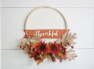 Fall Hoop Wreath Hoop Wreath - Wreaths - The Burlap Cottage®