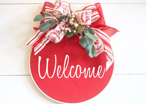Farmhouse Wreath Welcome Wreath - Wreaths - The Burlap Cottage®