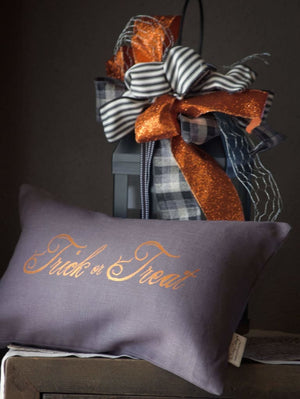 Halloween Pillow Cover Trick or Treat Pillow Cover - Holiday Pillows - The Burlap Cottage®