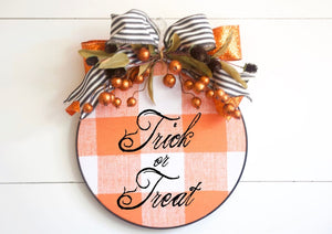 Halloween Wreath Hoop Wreath - Wreaths - The Burlap Cottage®