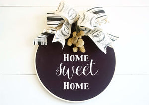 Hoop Wreath Modern Wreath - Wreaths - The Burlap Cottage®